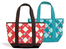 Criss Cross Tote Bag